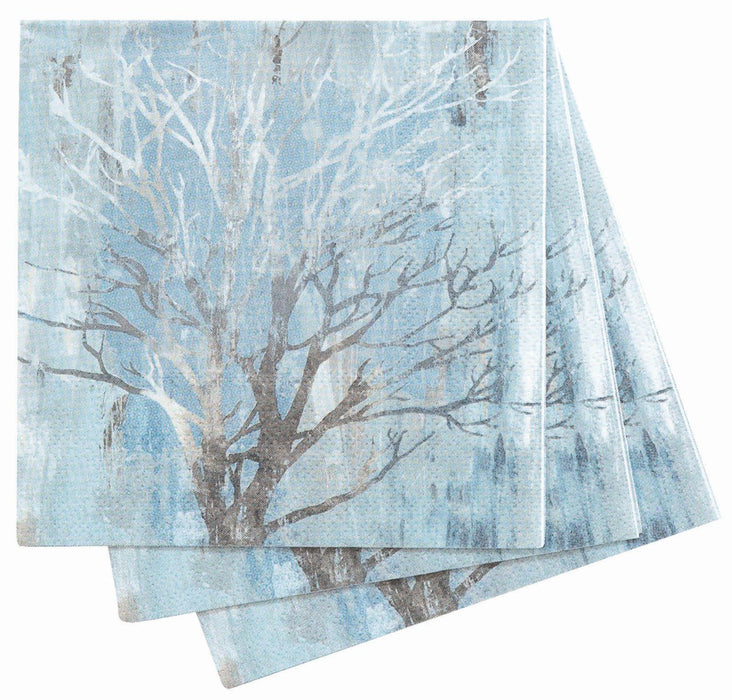 Silver Trees Cocktail Napkin NAPKIN_PAPER rfp-home