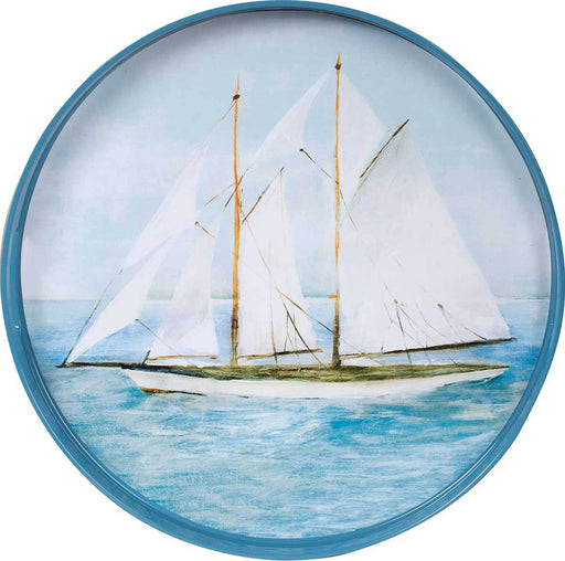 "Summer Sail 15"" Coco Tray TRAY-ROUND rfp-home"