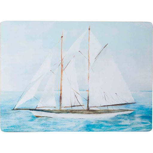 Summer Sail Placemat Set 4 HARDPLACEMAT rfp-home