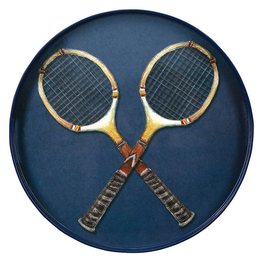 "Tennis Anyone 15"" Coco Tray TRAY-ROUND rfp-home"