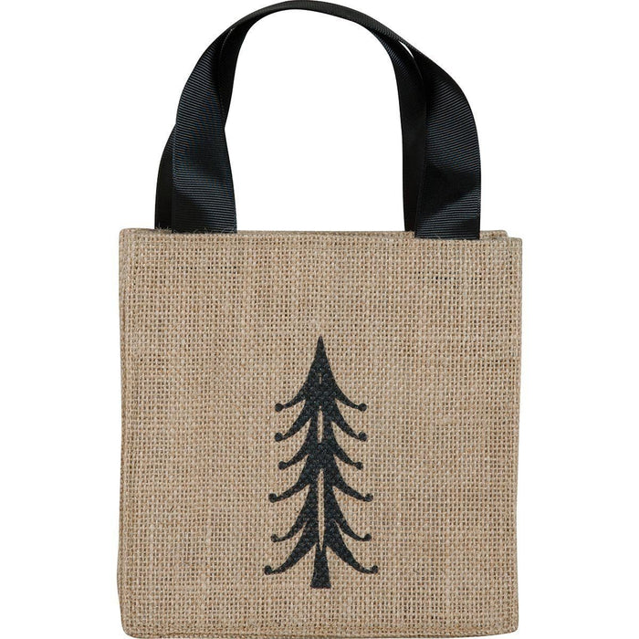 Tree Black Medium Jute Itsy Bitsy Gift Bags ITSYBITSYJUTE rfp-totes