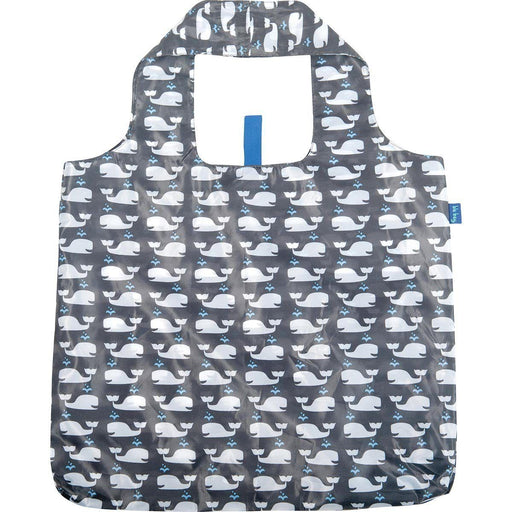 Whales Grey Blu Bag Reusable Shopping Bag BLUBAGS rfp-blu