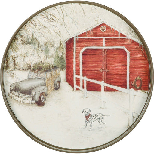 Winter Traditions 18 inch Round Tray TRAY-ROUND rfp-home