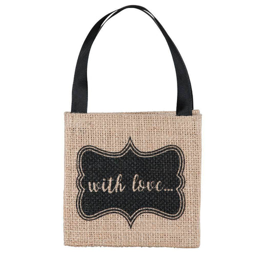 With Love Mini Jute Itsy Bitsy Gift Bags, Pack of 10 (Price is per Bag) ITSYBITSYJUTE rfp-totes