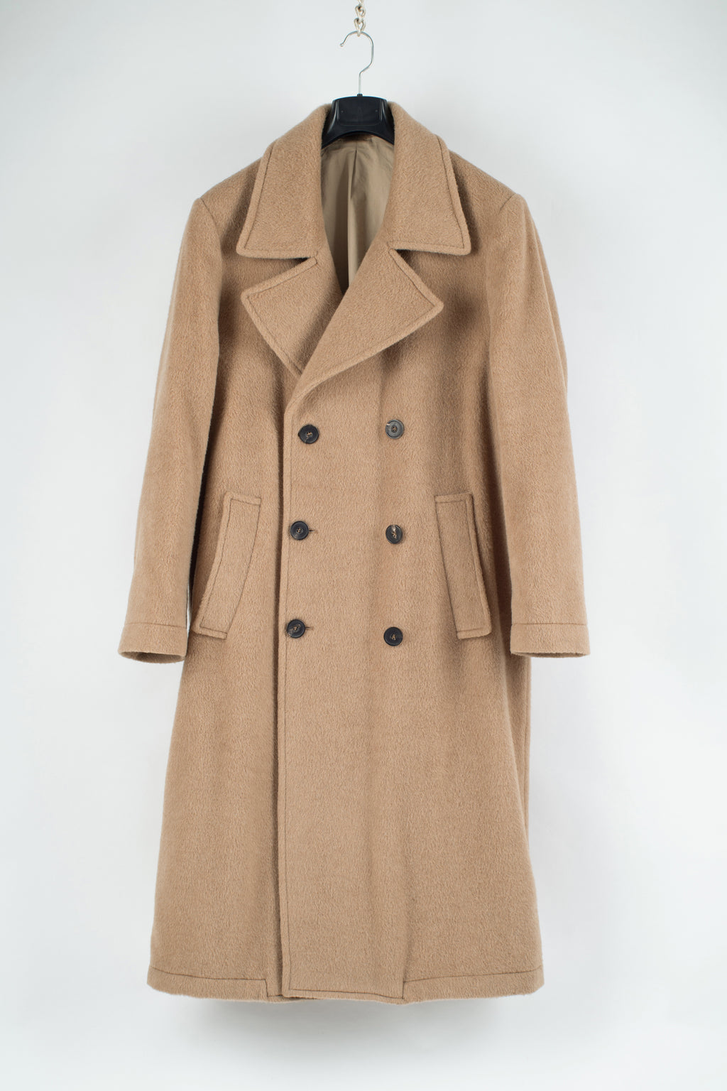 Zara Camel Brown Double Breasted Alpaca Blend Oversized Coat, M
