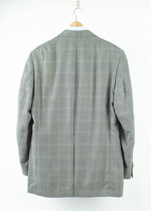 Ralph Lauren Silk-Wool Houndstooth Plaid Blazer, US 42L, EU 52L