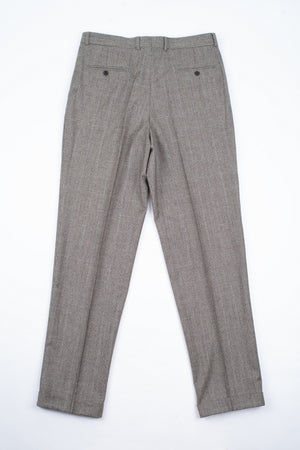 The Makers Glen Check Pleated Wool Trousers, EU 106