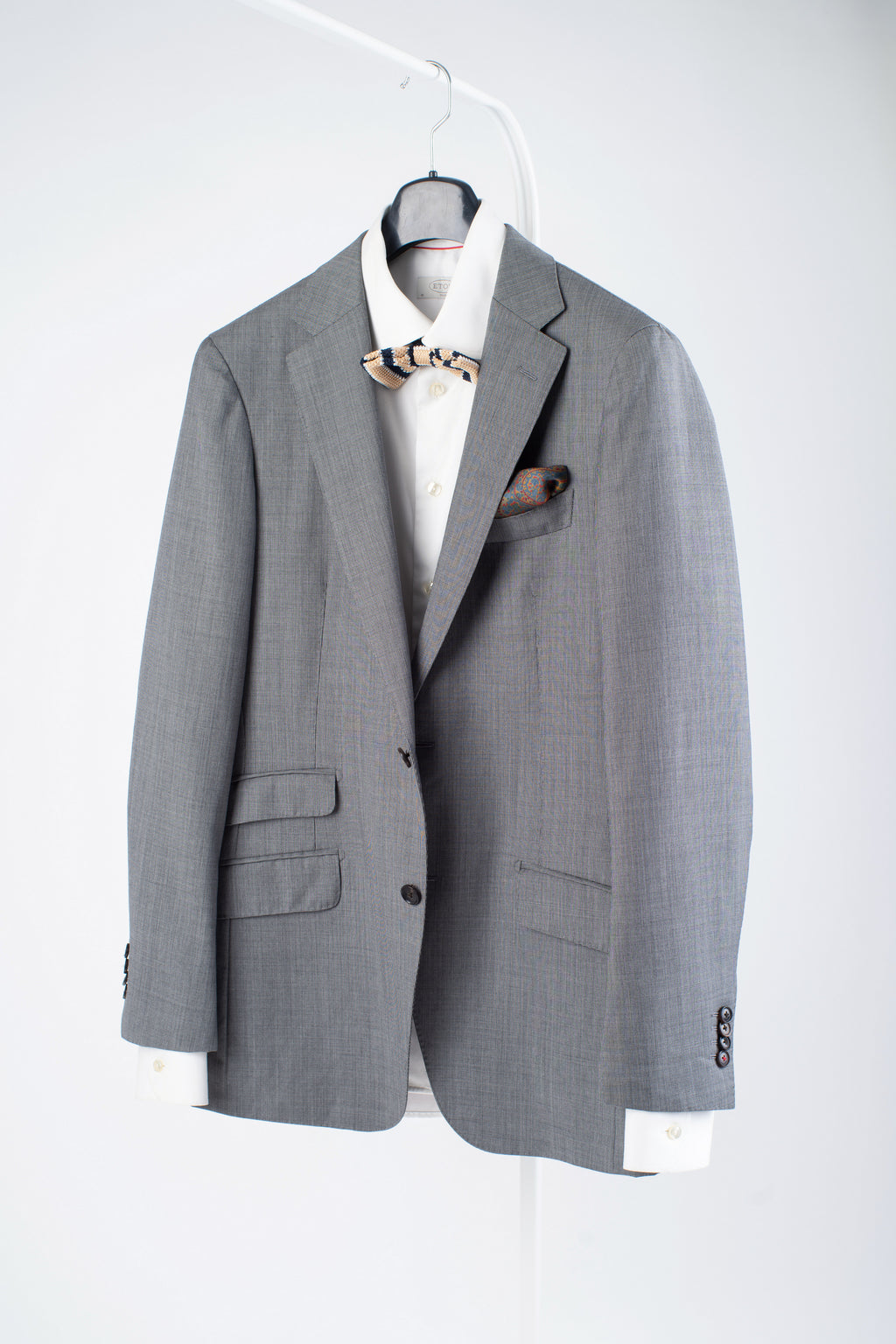 Suitsupply Sienna 2 Button Super 130's Wool Gray Blazer US 38L, EU 94