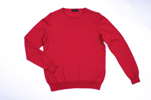 PRADA Men's Red Wool Muscle Sweater, SIZE S