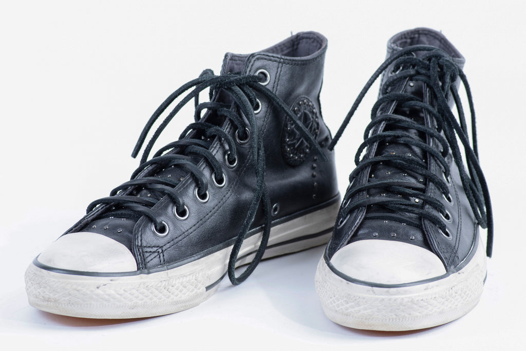 Converse x John Varvatos Chuck Taylor All Star Leather High Top Studded Sneakers