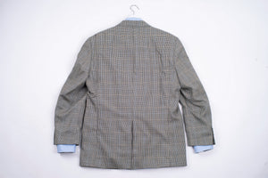 Ralph Lauren Silk-Wool Houndstooth Plaid Blazer, US 43R