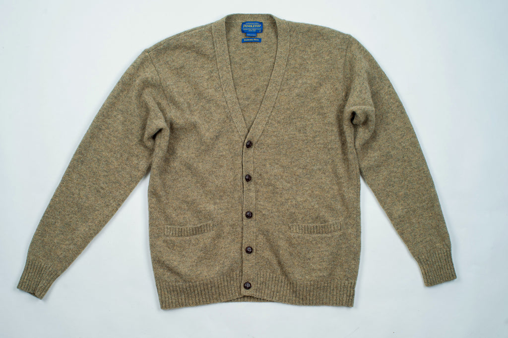 Pendleton Men's Olive Green Wool Grandpa Cardigan, Size L