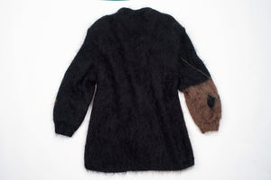 Vintage Woman's Oversized Mohair Wool Cardigan