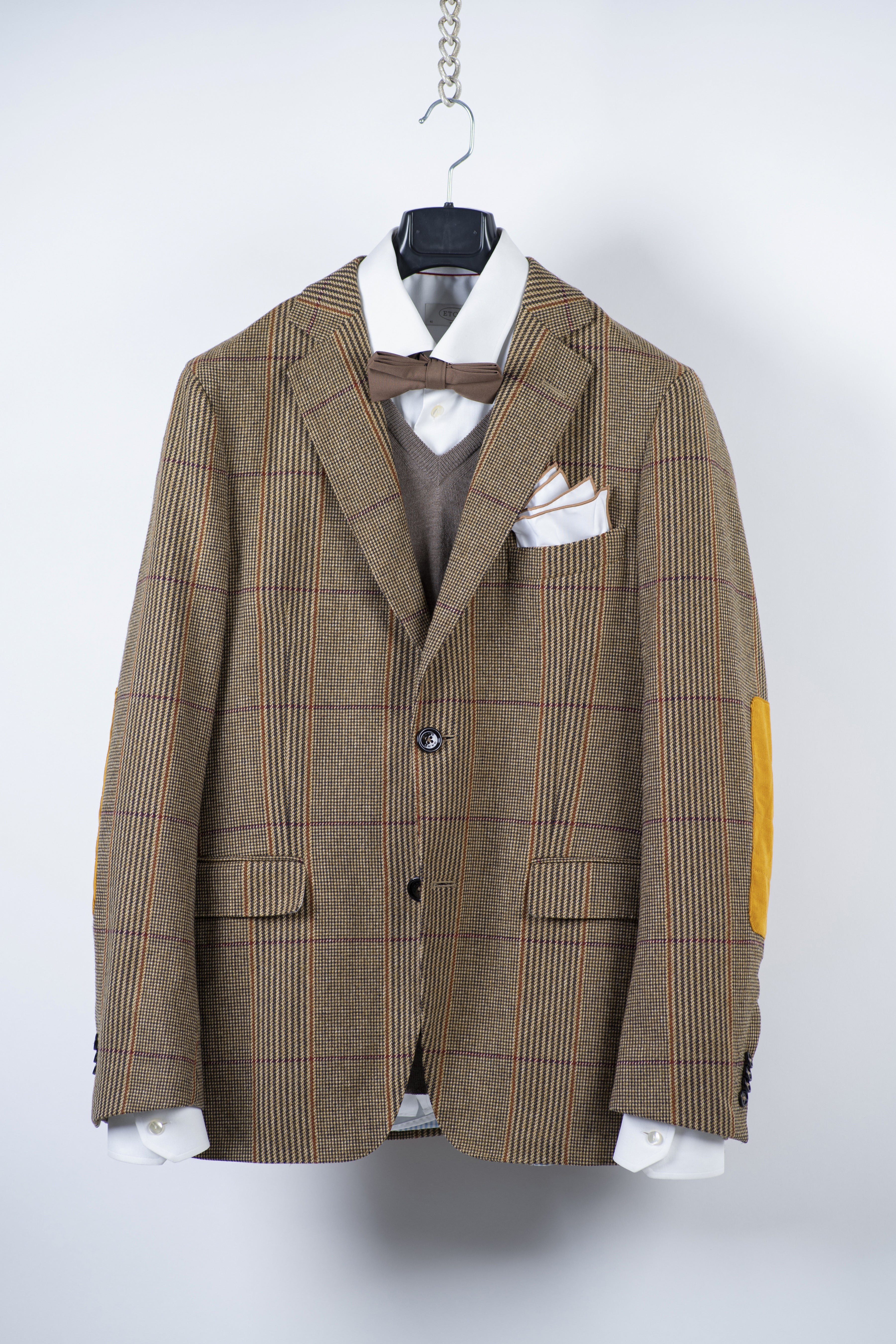 Gant Michael Bastian Brown Wool Blazer, US 38R, EU 48