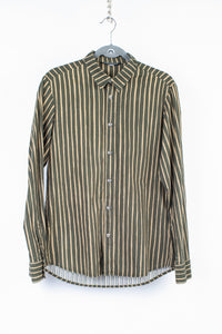 Marimekko Slim Fit Jokapoika Striped Green Shirt, Unisex M