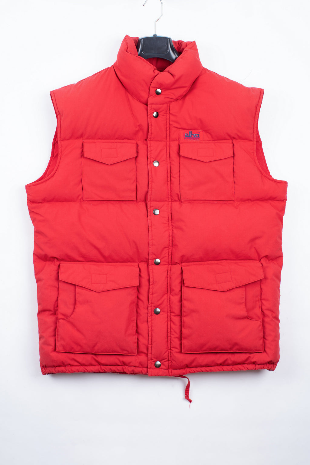 Vintage Elho Skiwear Down Puffer Red Men's Vest, SIZE XL