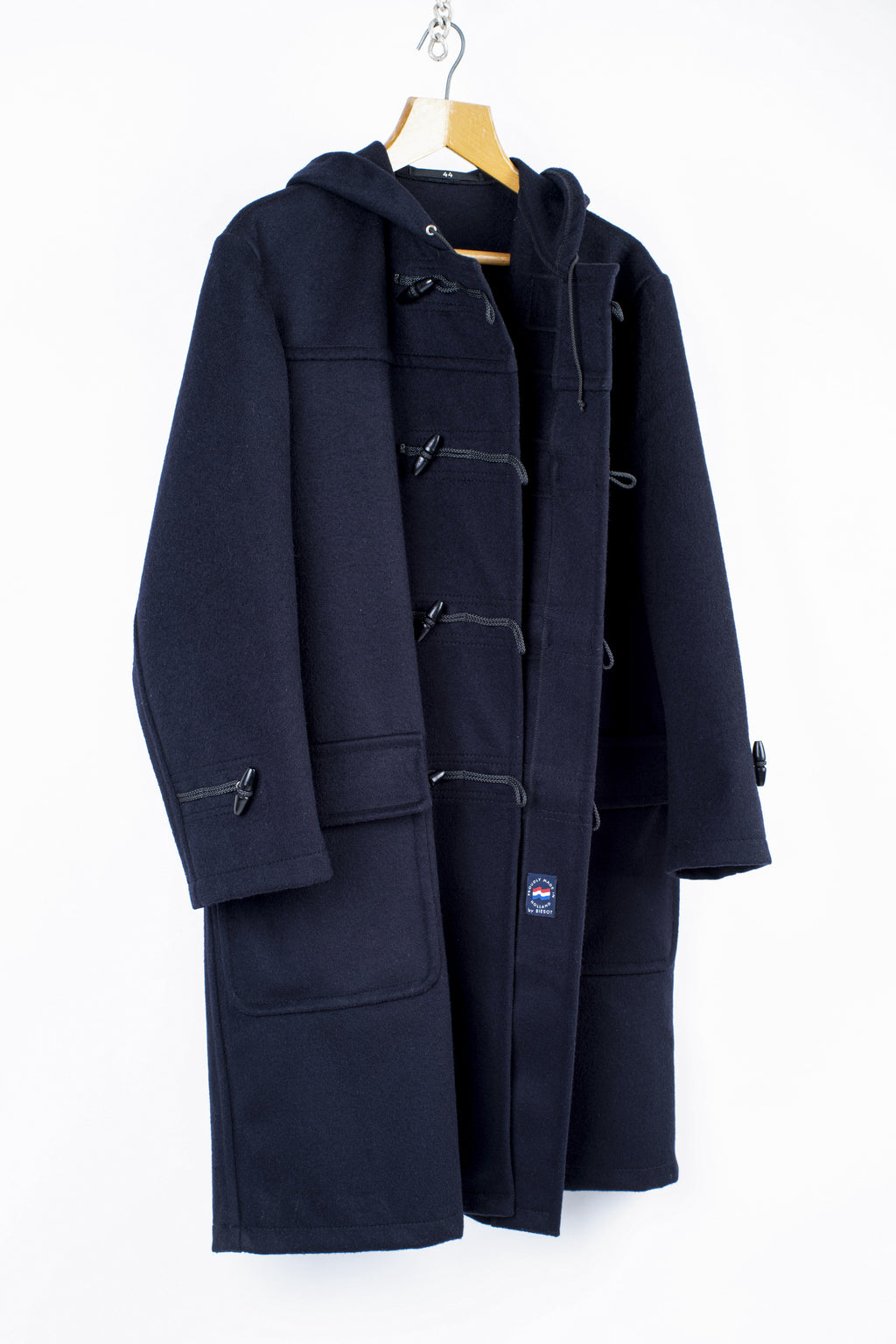 Men's Navy Blue Biesot Duffle Coat, SIZE 44, XL