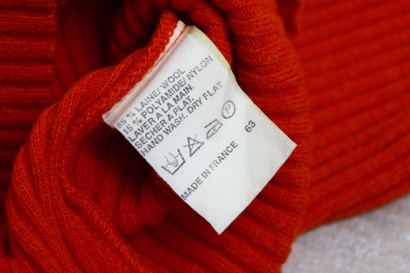 A.P.C. Orange Wool Blend Knit Jumper Sweater, SIZE S - secondfirst