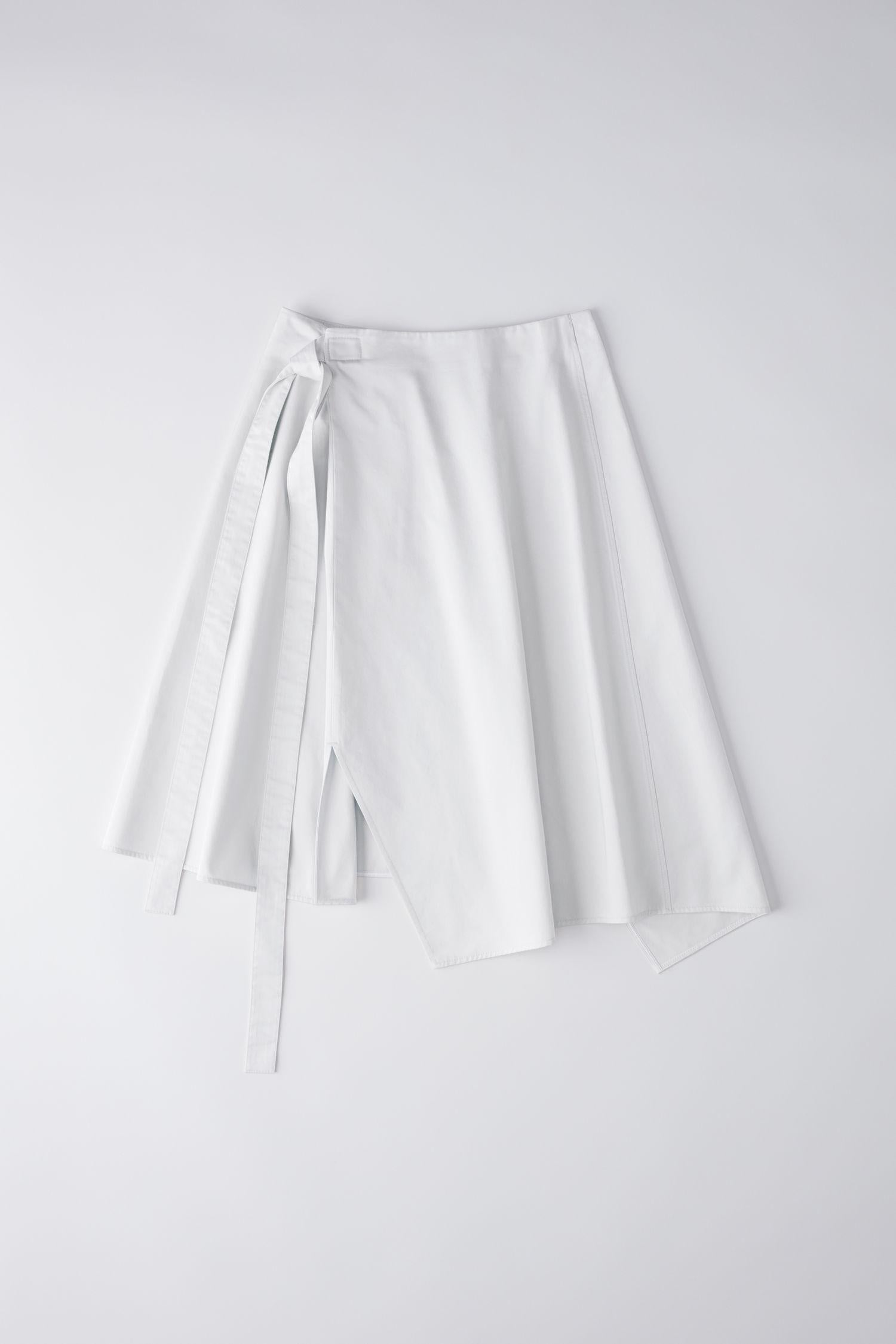 ACNE STUDIOS Piper Co Satin Asymetric Cotton Skirt, SIZE M - secondfirst