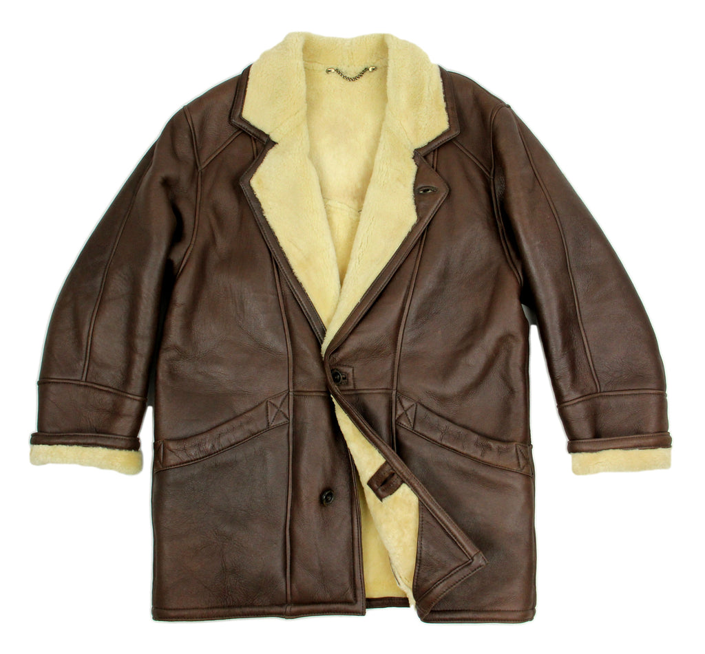Brown Soft Lambskin Shearling Coat, SIZE L - second_first
