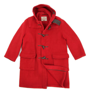 Gloverall Red Duffle Coat, SIZE L - secondfirst