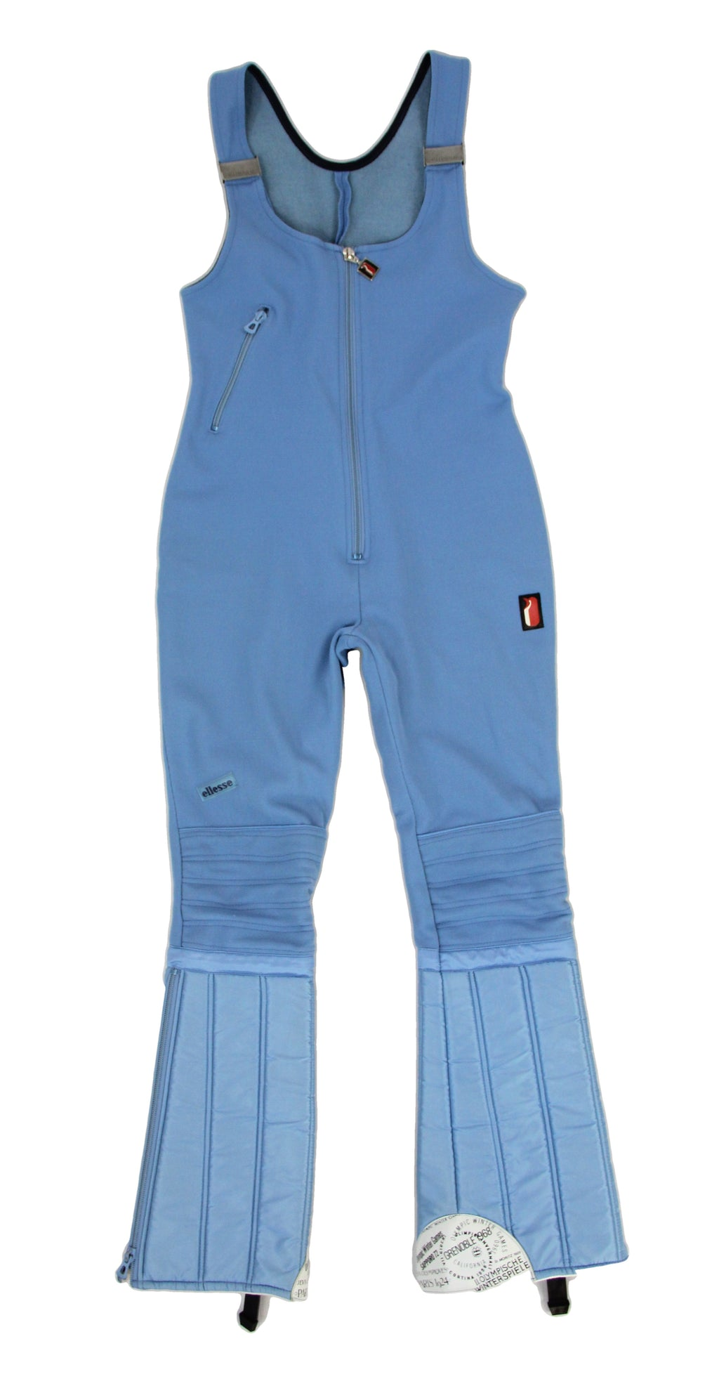 Ellesse Vintage Women's Light Blue Ski Bib Pants, SIZE XS