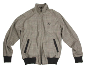 Fred Perry Plaid Wool Harrington Jacket, Size S