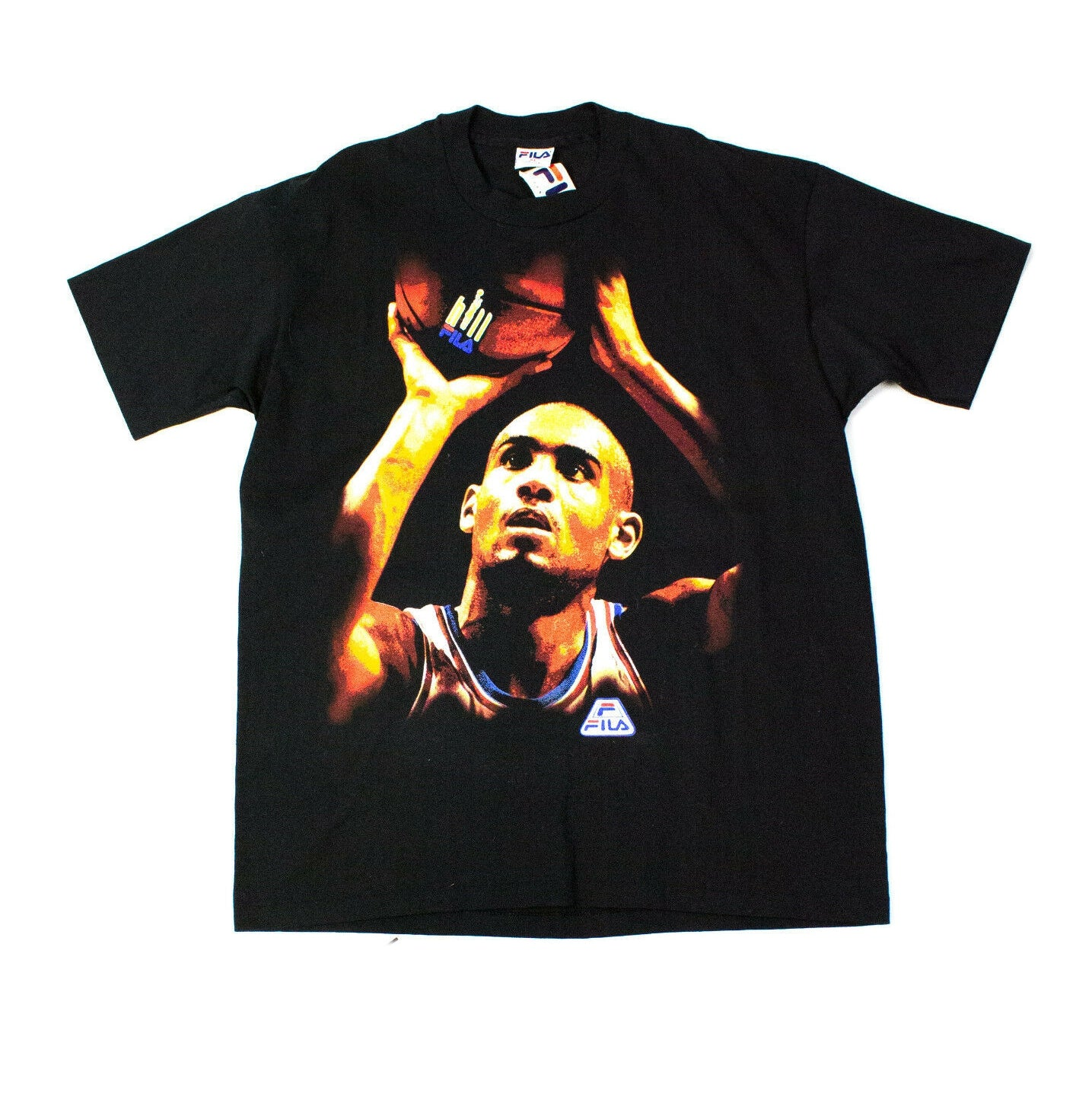 FILA NBA Grant Hill Vintage Black Cotton T-shirt, XL