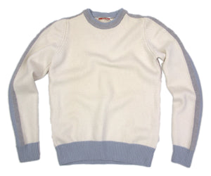 PRADA Off White 100% Wool Crew Neck Sweater, XS - secondfirst