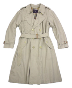Burberry Vintage Light Beige Trench Coat Size 44R, XL - secondfirst