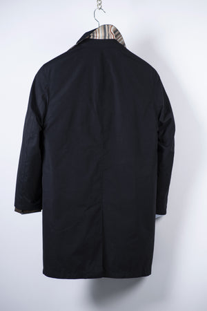 Daks Navy Blue Men's Mac Coat, Size EU 46, USA 36