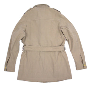 DIESEL vintage Khaki Brown Belted Safari Jacket SIZE S - secondfirst