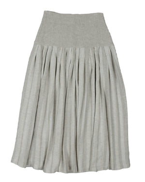Vintage Button Front Mediterranean Peasant Skirt from Antibes, France, SIZE S
