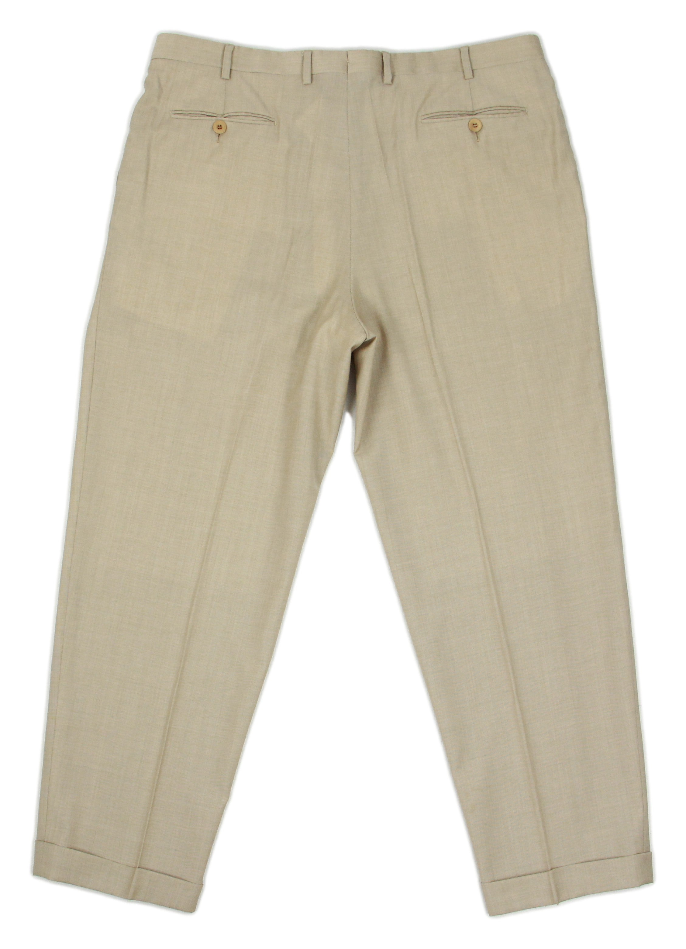 BRIONI Lightweight Single Pleated Pants Size EU 57R, Waist 38""
