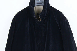 Corneliani Trend Dark Blue Velvet Coat SIZE US 46R, EUR 56 - secondfirst