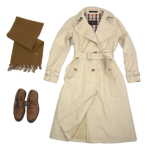 Daks Lightweight Beige Trench Coat Size XS, US 4 - secondfirst