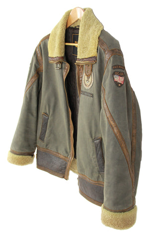 PME Pall Mall Air Freighters Canvas, Leather & Shearling Jacket, XL
