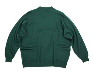 Pringle Of Scotland men's Green Wool Mock Neck Jumper, XL