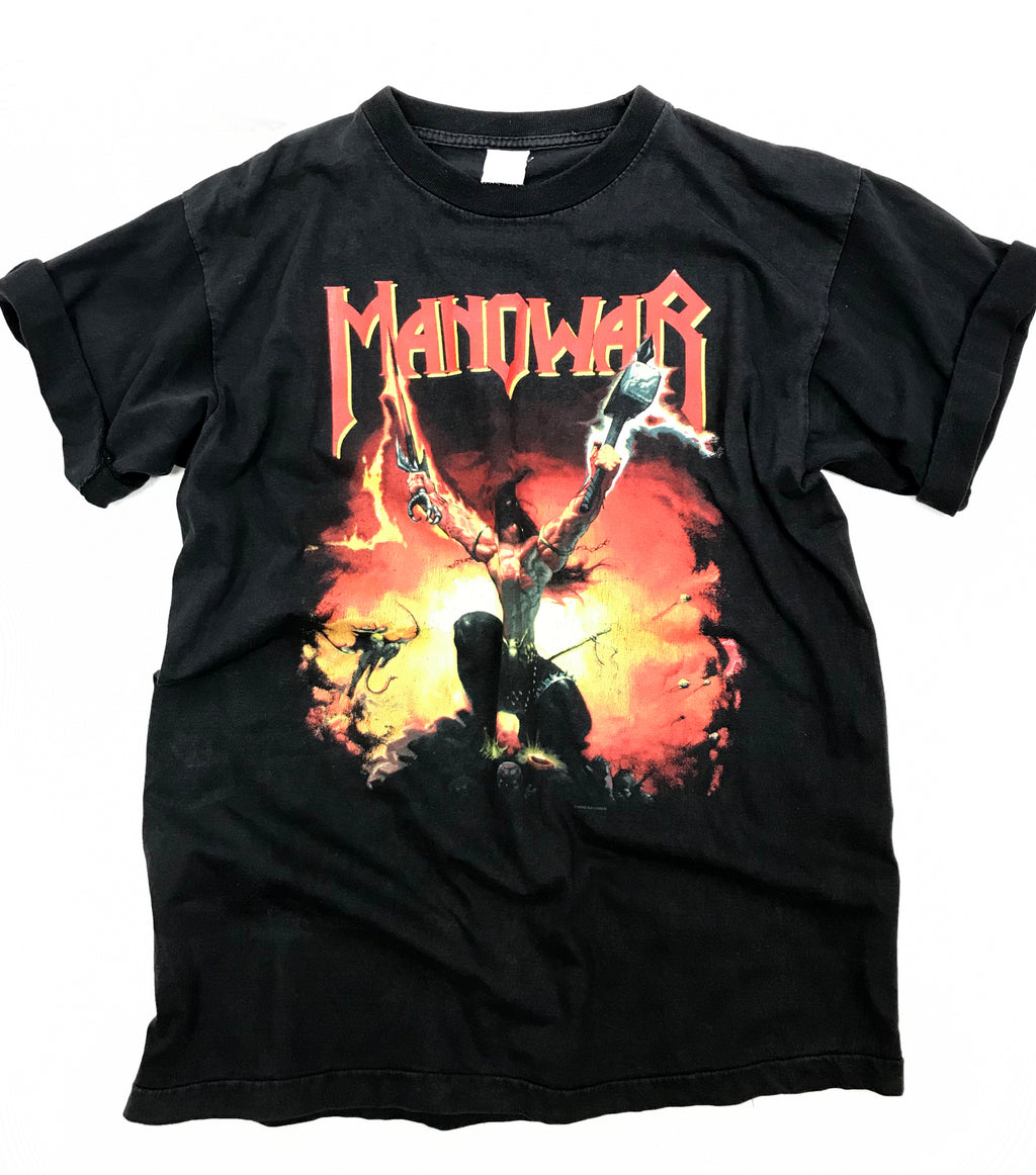 Manowar Agony And Ecstasy World Tour 94/95 Concert T Shirt, L - secondfirst