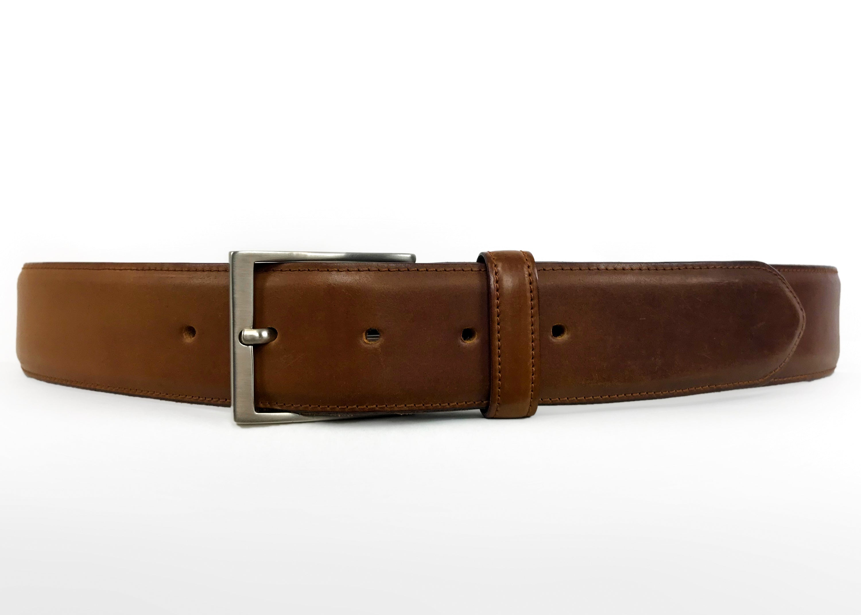 "Kreis Genuine Shell Cordovan Brown Leather Belt, SIZE 36""/ 90cm - secondfirst"