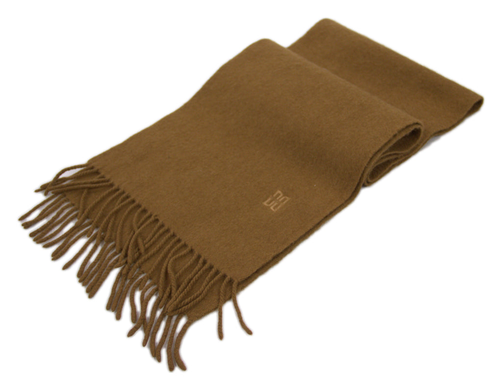 DAKS Vintage Brown 100% Cashmere Scarf - secondfirst
