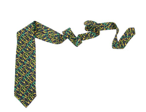 Gianni Versace Vintage Silk Tie With Brand Motif in Baroque Style - secondfirst