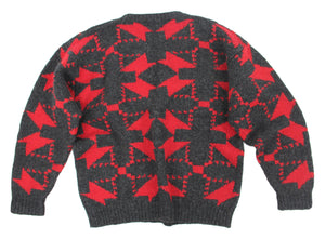 WOOLRICH 100% WOOL CHUNKY HAND KNITTED SWEATER SIZE L