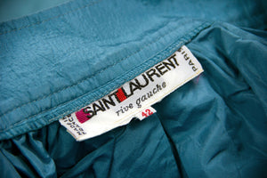 SAINT LAURENT Rive Gauche Vintage Taffeta Silk Suit, SIZE M-L - secondfirst