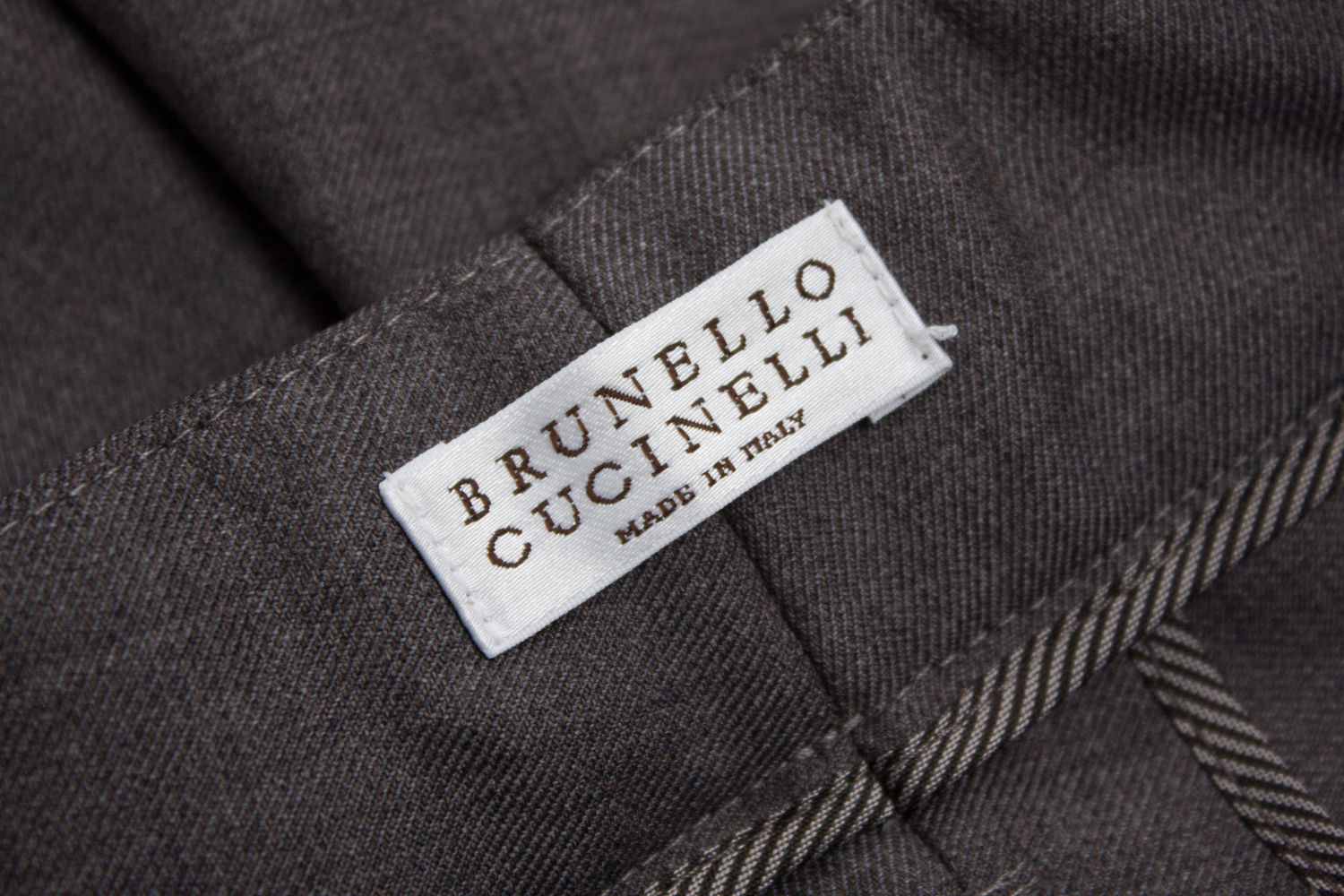 BRUNELLO CUCINELLI 100% Virgin Wool Gray Pencil Pants, US8 - secondfirst