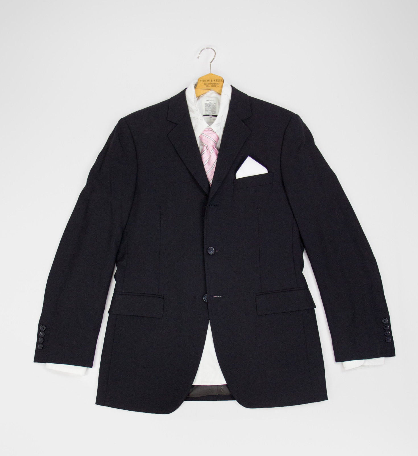 DOLCE & GABBANA Navy Blue 3 Button Stretch Wool Blazer, SIZE US 38R - secondfirst