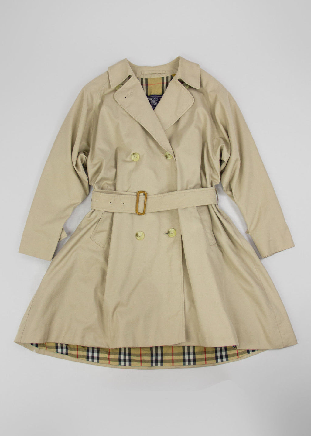 Burberry Vintage Women's Khaki Brown Trench Coat Size S-L - second_first