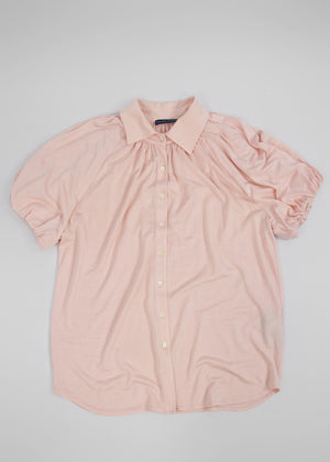 RALPH LAUREN Silk Blouse with Linen Blend, Size L - secondfirst