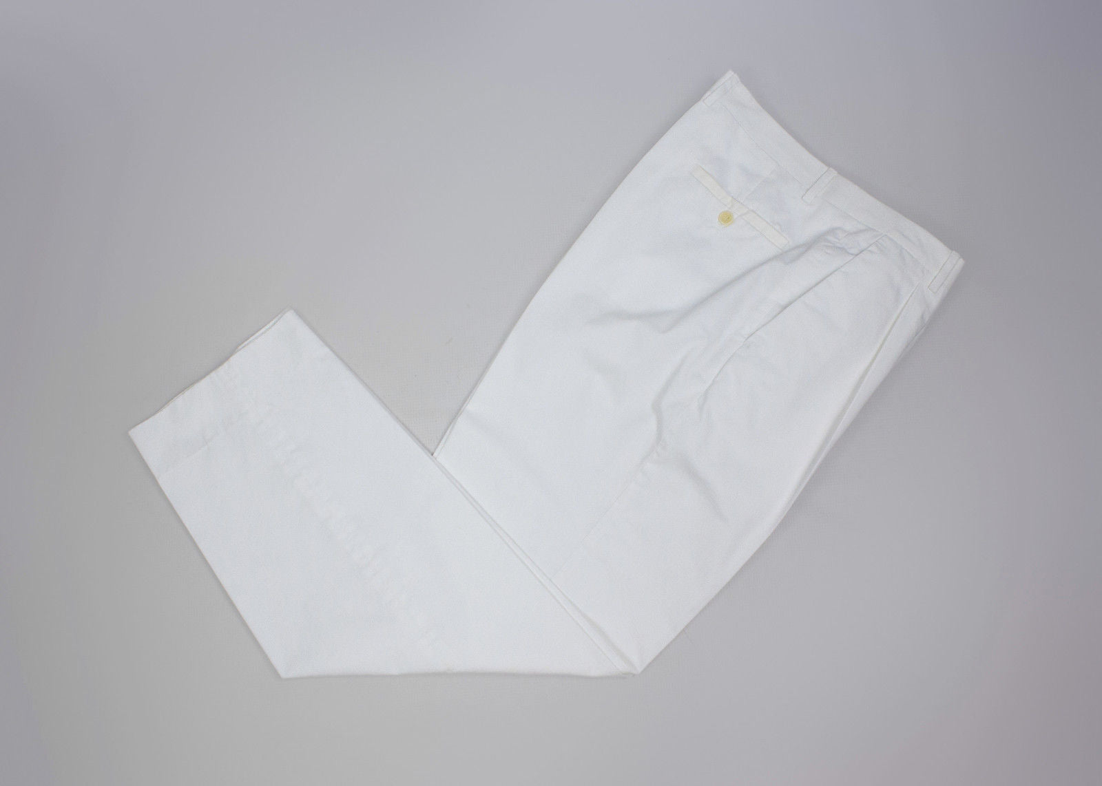 CERRUTI  White Dress Pants, EU 50 - secondfirst