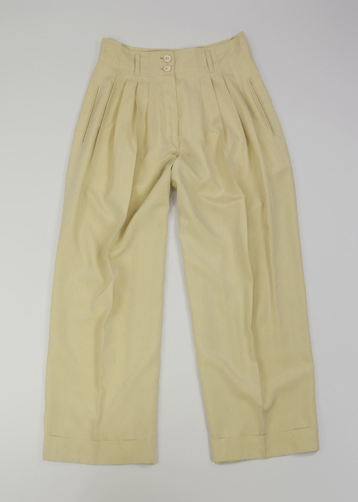 JIL SANDER Silk Wide Pleated Palazzo Pants Trousers IT42, EU36, UK10, US 6 - secondfirst